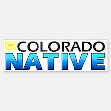 Colorado native (bumper sticker 10x3)