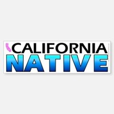 California native (bumper sticker 10x3)