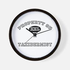 Property of a Taxidermist Wall Clock