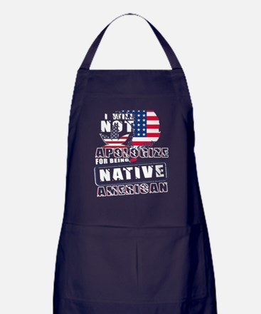 For Being Native American T Shirt Apron (dark)