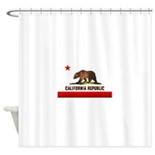 2-calb_flag.png Shower Curtain