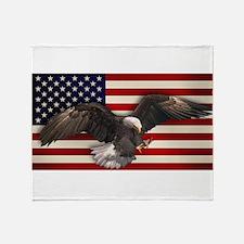 eagle_flag2.png Throw Blanket