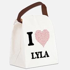 Unique Lyla Canvas Lunch Bag