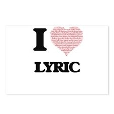 I love Lyric (heart made Postcards (Package of 8)