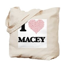 I love Macey (heart made from words) desi Tote Bag