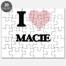I love Macie (heart made from words) design Puzzle
