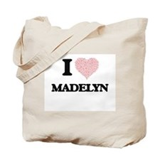 I love Madelyn (heart made from words) de Tote Bag