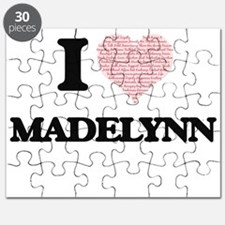 I love Madelynn (heart made from words) des Puzzle