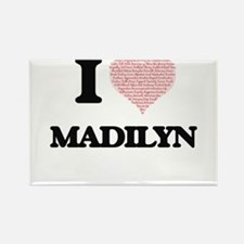 I love Madilyn (heart made from words) des Magnets