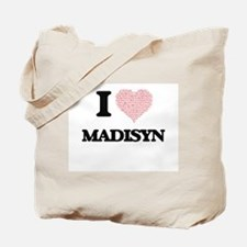 I love Madisyn (heart made from words) de Tote Bag