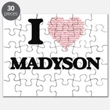 I love Madyson (heart made from words) desi Puzzle