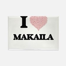 I love Makaila (heart made from words) des Magnets