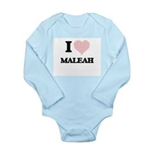 I love Maleah (heart made from words) de Body Suit