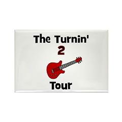 CUSTOM - Turnin' 2 Tour Rectangle Magnet