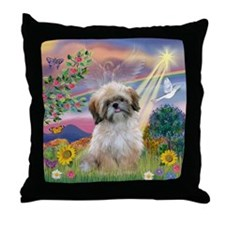 Cloud Angel & Shih Tzu  Throw Pillow