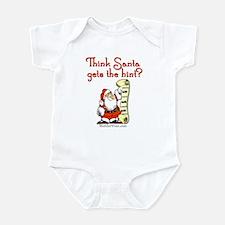 Santa - Get the hint! Infant Bodysuit