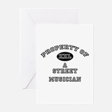Property of a Street Musician Greeting Cards (Pk o