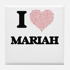 I love Mariah (heart made from words) Tile Coaster