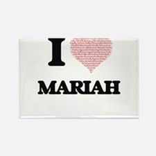 I love Mariah (heart made from words) desi Magnets