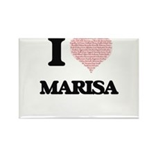 I love Marisa (heart made from words) desi Magnets