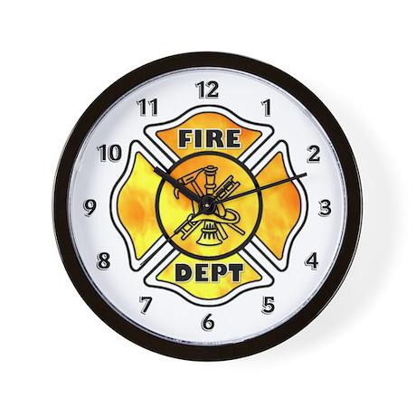 Fire Maltese Wall Clock