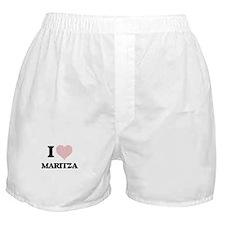 I love Maritza (heart made from words Boxer Shorts