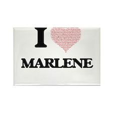 I love Marlene (heart made from words) des Magnets