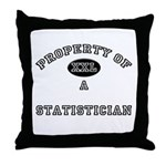 Property of a Statistician Throw Pillow