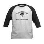 Property of a Statistician Kids Baseball Jersey