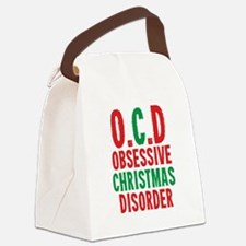 OCD Obessive Christmas Disorder Canvas Lunch Bag