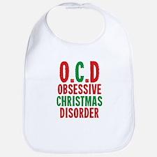 OCD Obessive Christmas Disorder Bib