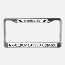 Owned by Golden Capped Conure License Plate Frame