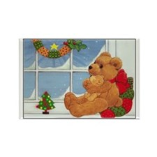 Beary Christmas Rectangle Magnet