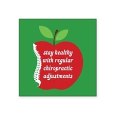 """Stay Healthy With Chiro Square Sticker 3"""" x 3"""""""