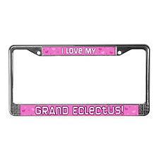 Pnk Plk Dot Grand Eclectus License Plate Frame