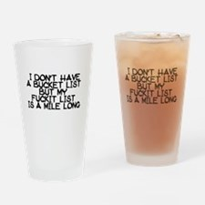 BUCKET LIST HUMOR Drinking Glass