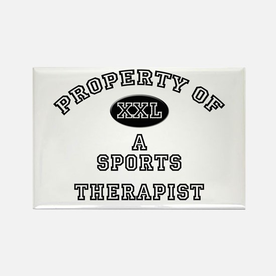 Property of a Sports Therapist Rectangle Magnet