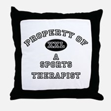 Property of a Sports Therapist Throw Pillow