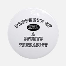 Property of a Sports Therapist Ornament (Round)