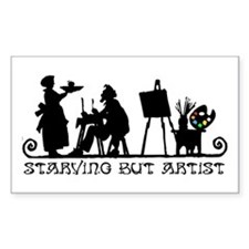 Starving But Artist Rectangle Decal