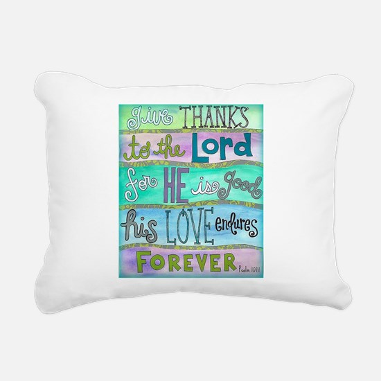 Give Thanks To The Lord Rectangular Canvas Pillow