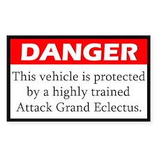 Danger Attack Grand Eclectus Decal