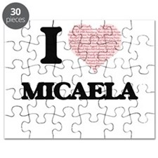 I love Micaela (heart made from words) desi Puzzle