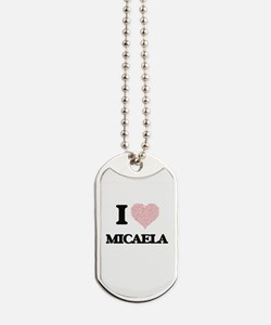 I love Micaela (heart made from words) de Dog Tags