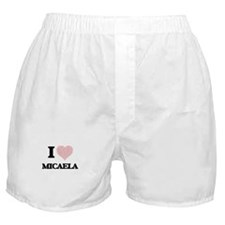 I love Micaela (heart made from words Boxer Shorts