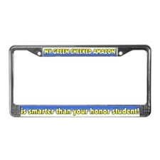 Hnr Stdnt Green Cheeked Amazon License Plate Frame