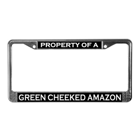 Property of Green Cheek Amazon License Plate Frame
