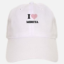 I love Mireya (heart made from words) design Baseball Baseball Cap