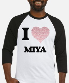 I love Miya (heart made from words Baseball Jersey