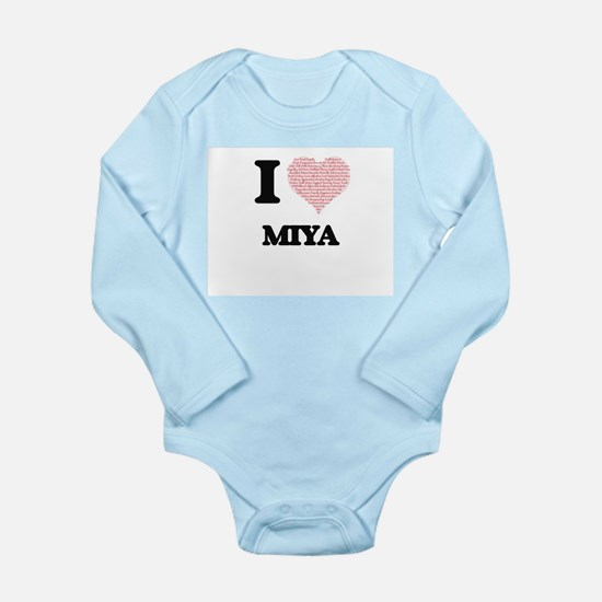 I love Miya (heart made from words) desi Body Suit